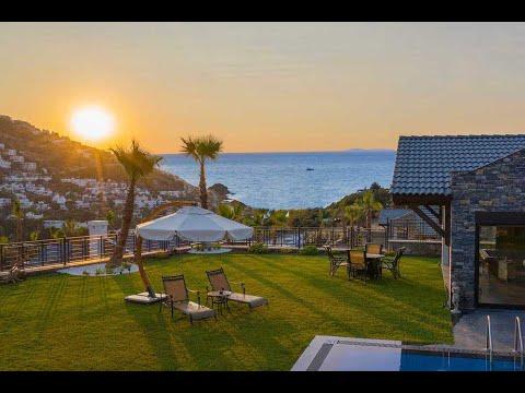 Bungalow-style sea vista villas in Geris Yalikavak