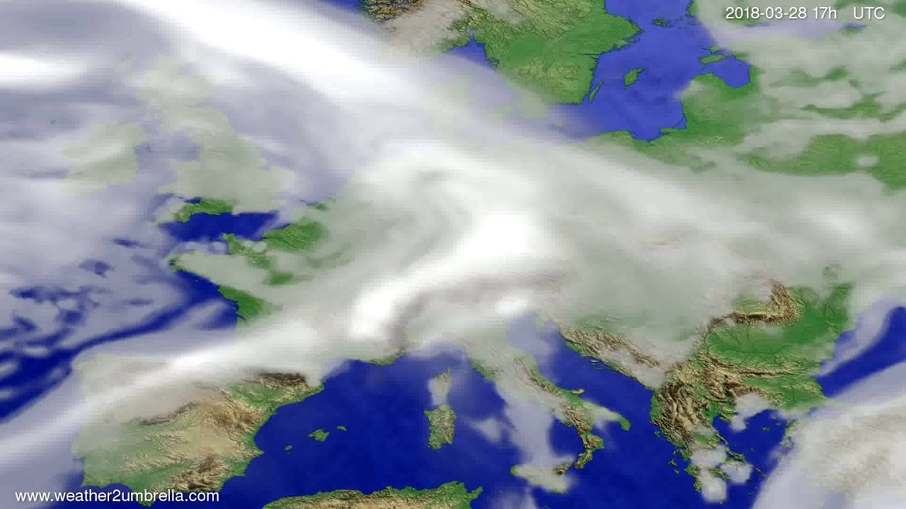 Cloud forecast Europe 2018-03-26