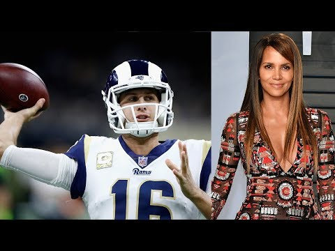 , title : 'Rams QB Jared Goff SHOOTS HIS SHOT At Halle Berry With A Play Call!'