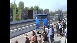 Lil' Blue Freightliner Cab-Over Racing At Truckin' For Kids 2012