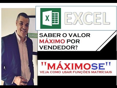 """0 Vídeo tutorial - Tabela de vendas - """"Máximo SE"""" -"""