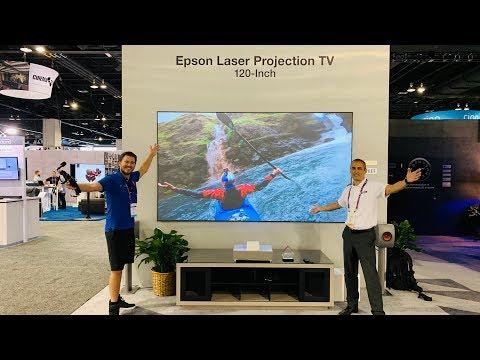 Epson LS500 120 Inch & 100 TV Laser 4k projector | CEDIA | Dreamedia