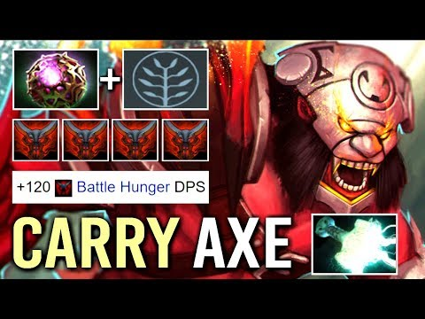 NEW META 7.16 Octarine Core Axe Carry 160 DPS Hunger vs Right Click by Smash Epic WTF Dota 2