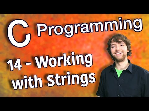 C Programming Tutorial 14 – C Basics Part 6 – Working with Strings