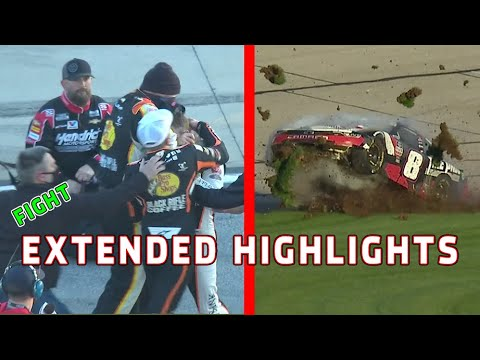 Noah Gragson and Daniel Hemric Fight/Josh Berry's car destroyed | Xfinity Series Extended Highlights