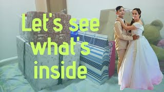 Unwrapping and unboxing gifts from our wedding | Super enjoy