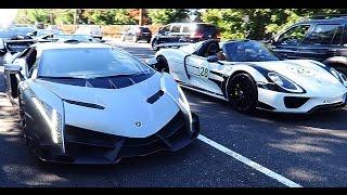 Ламборгини Венено против Порше 918 | Lamborghini VENENO VS Porsche 918 SPYDER