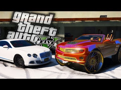 Buying CJSOCOOL's Camaro On 32's & 3 Car Garage!! - GTA 5 Real Hood Life - Day 88