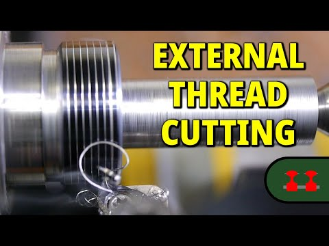 Cutting an External Thread on the Proxxon PD 250/e Lathe
