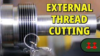 Cutting an External Thread on the Proxxon PD 250/e Lathe