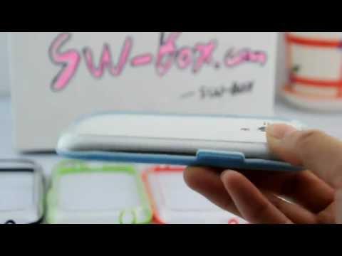 Soft TPU Bumper Frame Case for Samsung Galaxy S3 Mini -Blue