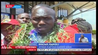 Bingwa wa mbio za Tokyo Wilson Kipsang apokelewa kwa shangwe huko Eldoret