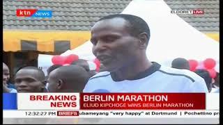 Eldoret residents react to Eliud Kipchoge's Berlin Marathon win
