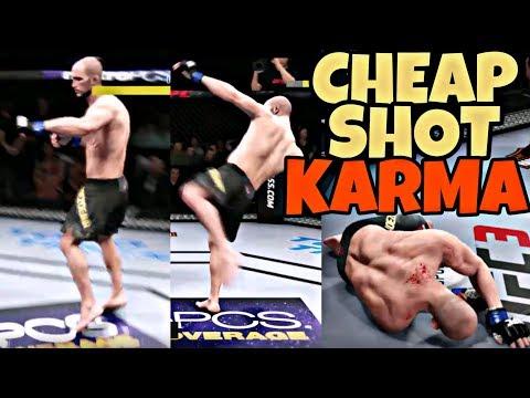 CHEAP SHOT KARMA COMPILATION   EA SPORTS UFC 3
