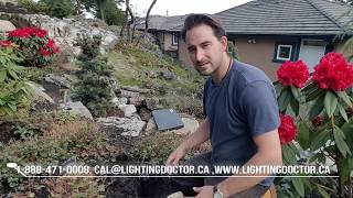 How to Install Low Voltage Landscape Lighting - Setting your Lights & Bury Wire