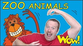 ZOO Animals for Kids | Stories from Steve and Maggie | Learn Speaking Wow English TV | Words ingles - Video Youtube