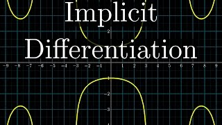 Implicit differentiation can feel weird, but what's going on makes much more sense once you view each side of the equation as a two-variable function, f(x, y).Full playlist: http://3b1b.co/calculusSupport for these videos comes primarily from Patreon:https://patreon.com/3blue1brownSpecial thanks to the following Patrons: http://3b1b.co/eoc6-thanks------------------3blue1brown is a channel about animating math, in all senses of the word animate.  And you know the drill with YouTube, if you want to stay posted about new videos, subscribe, and click the bell to receive notifications (if you're into that).If you are new to this channel and want to see more, a good place to start is this playlist: http://3b1b.co/recommendedVarious social media stuffs:Website: https://www.3blue1brown.comTwitter: https://twitter.com/3Blue1BrownPatreon: https://patreon.com/3blue1brownFacebook: https://www.facebook.com/3blue1brownReddit: https://www.reddit.com/r/3Blue1Brown