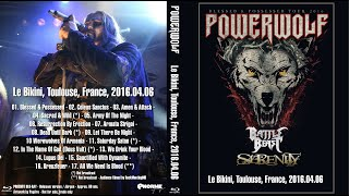Powerwolf   - 06/04/16 - Le Bikini - Toulouse - Blessed & Possessed French Tour