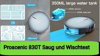 Proscenic 830T Saug- und Wischtest #Teil2+3 Deutsch