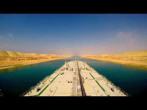Traveling Through the Suez Canal Time Lapse