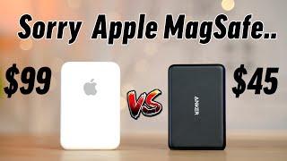 Pacote de bateria MagSafe vs Anker 5K - Comparação definitiva!