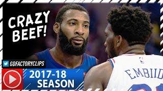 Joel Embiid vs Andre Drummond BIG MEN Duel Highlights (2017.12.02) Pistons vs 76ers - TRASH TALKING!
