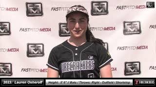 2023 Lauren Osheroff 3.8 GPA Athletic Outfield & Shortstop Softball Skills Video Firecrackers Miller