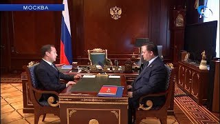 Премьер-министр России Дмитрий Медведев и губернатор Андрей Никитин провели рабочую встречу