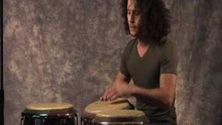 Cuban percussionist, Yoel Del Sol performs solo on congas