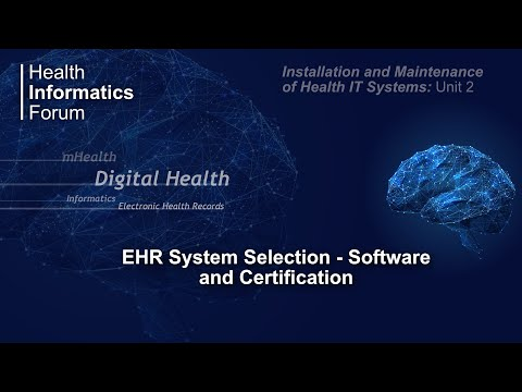 EHR system selection - software and certification - YouTube