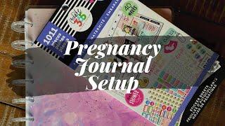 Pregnancy Journal Set Up Using Happy Planner
