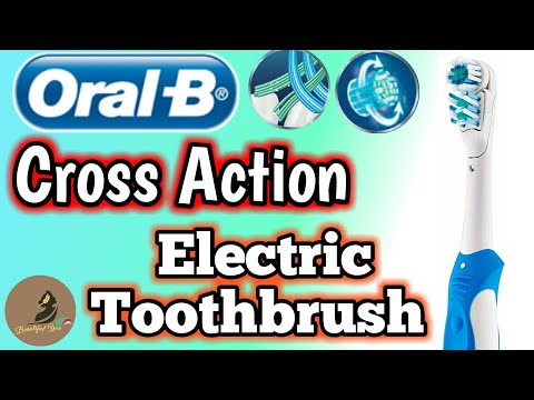 Oral - B Crossaction electric toothbrush review | How to use (working) electric toothbrush in hindi