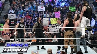 Roman Reigns, Dean Ambrose & Chris Jericho vs. Bray Wyatt, Harper & Rowan: SmackDown, Jan. 28, 2016