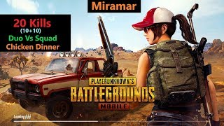 "[Hindi] PUBG Mobile | ""20 Kills"" Duo Vs Squad In Miramar#RON+SRten"