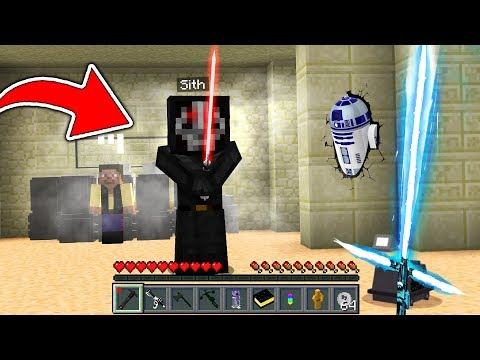 CRAZY MINECRAFT LIGHTSABER DUEL WITH FORCE POWERS! - BeckBroJack