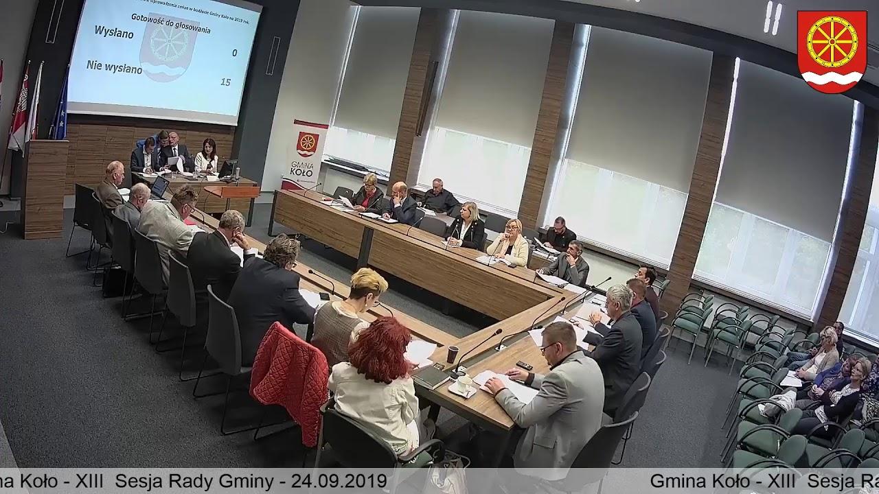 Zdjęcie do XIII Sesja Rady Gminy Koło
