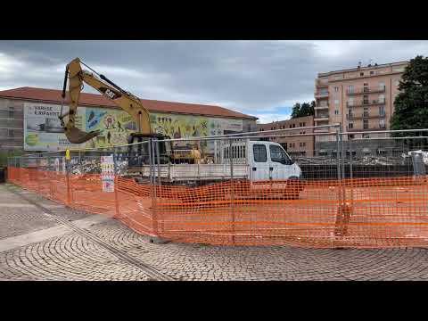 A pieno ritmo i lavori in piazza Repubblica