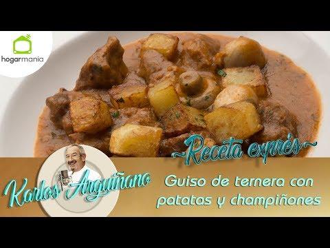 Receta de Guiso de ternera con patatas y champiñones por Karlos Arguiñano