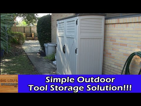 Suncast Vertical shed. Step by step assembly, review & opinions. Perfect for garden tool storage.