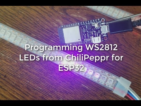 Programming WS2812 LEDs from ChiliPeppr ESP32 Worksapce for