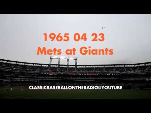 1965 04 23 New York Mets at SF Giants