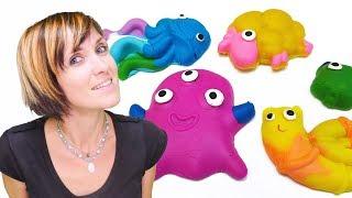 Видео для детей. Веселая школа с  Play-Doh Touch