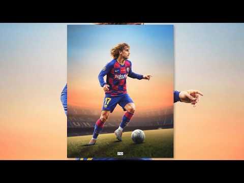 Griezmann | Barcelona 🔴🔵| Photoshop Tutorial |  Football Poster Design | GD Design