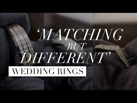 6 Tips for 'Matching but Different' Wedding Rings