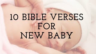 10 Bible Verses For New Baby Cards