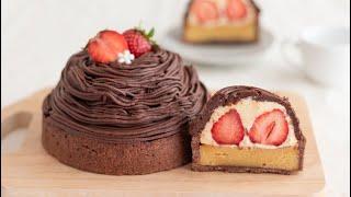 いちごと生チョコのタルトの作り方 Strawberry & Chocolate Tart|HidaMari Cooking