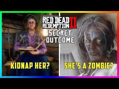 Red Dead Redemption 2 Undead Nightmare - The Old Lady At Watson's Cabin Becomes A Zombie! (RDR2)