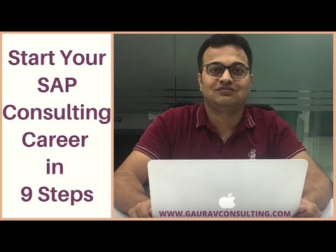 Start your SAP Consulting Career in 9 Steps with Gaurav Learning Solutions