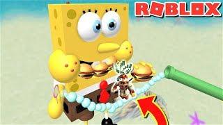 ESCAPE THE WORLD'S BIGGEST SPONGEBOB OBBY!! | The Weird Side of Roblox: SpongeBob Obby