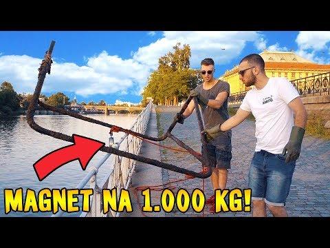 LOVENÍ MAGNETEM NA 1.000 KG! - Ztracená fotbalová branka?